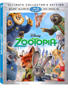 Zootopia Ultimate Collector's Edition Blu-Ray Combo Pack (Blu-Ray/Blu-Ray3D/DVD/Digital HD)