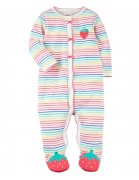 Strawberry Baby Girl Sleep & Play Jumpsuit