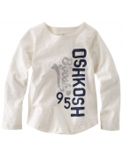 White woven top Oshkosh