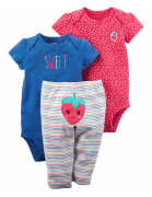 Strawberry-baby girl - set of 3